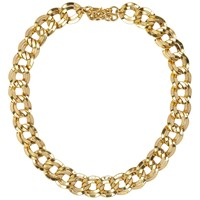 Susan Caplan Vintage 1980S Monet Gold Plated Double Link Necklace Gold