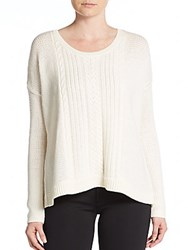 Alice Olivia Cable Knit Wool Sweater Cream