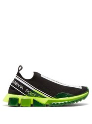 Dolce And Gabbana Sorrento Fusion Low Top Trainers Black Green
