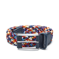 Andersons Anderson's Woven Textile Belt Multi And Navy