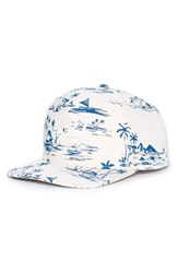 Men's Herschel Supply Co. 'Whaler' Print Snapback Cap Ivory Sun Up