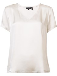Theory V Neck T Shirt Nude Neutrals