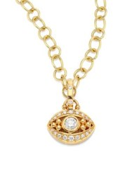 Temple St. Clair Evil Eye Diamond And 18K Yellow Gold Pendant