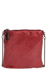 Whiting And Davis Crossbody Bag Red