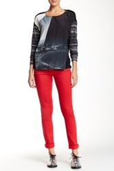 Desigual Patterned Pant Red