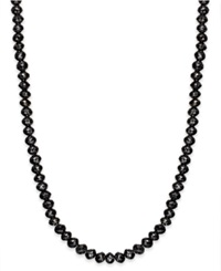 Macy's Black Diamond Necklace In 14K White Gold 13 Ct. T.W.