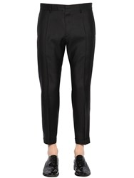 Dsquared 17.5Cm Admiral Virgin Wool And Silk Pants Black
