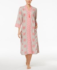 Charter Club Mixed Print Long Caftan Only At Macy's Tile Medallion
