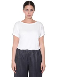 Marina Rinaldi Short Sleeve Viscose Top White