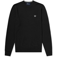 Fred Perry Classic Crew Knit Black