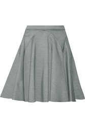 Mason By Michelle Mason Stretch Knit Mini Skirt Gray