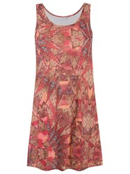 Lygia And Nanny Round Neck Printed Dress Brown
