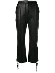 Stella Mccartney Flared Lace Up Side Trousers Black