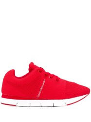 Calvin Klein Jeans Mesh Panel Sneakers Red