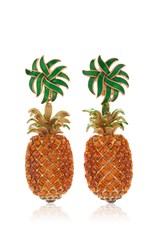 Dolce And Gabbana Pineapple Drop Earrings Yellow