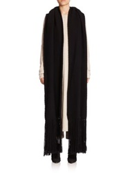 Helmut Lang Oversized Merino Wool And Cashmere Scarf Black