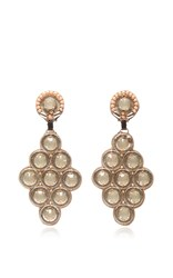 Ranjana Khan Rhombus Drop Earrings Gold