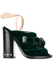 N 21 No21 Peep Toe Strap Mules Green