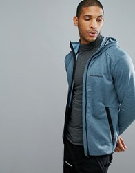 Peak Performance Fleece Half Zip Fleck Sweat In Blue 2Z8 Blue Steel