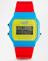 Neff Flava Primary Watch Red