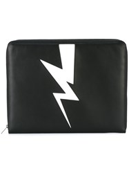 Neil Barrett Lightning Clutch Bag Black