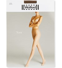 Wolford Xara Patterned Tights Gobi Black