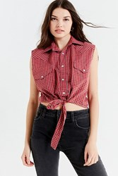 Urban Renewal Recycled Western Tie Front Top Red