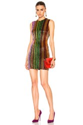 Balmain Sequin Stripe Mini In Abstract Green Red Abstract Green Red