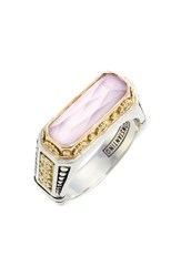Women's Konstantino 'Iliada' Etched Ring Pink