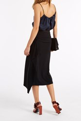 Helmut Lang Ruffle Pencil Skirt Black
