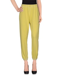 American Vintage Casual Pants Yellow