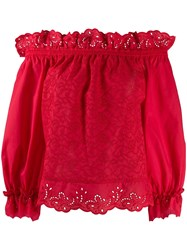 Ermanno Scervino Broderie Anglaise Off The Shoulder Top 60