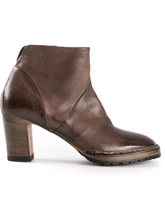 Silvano Sassetti Platform Ankle Boots Brown