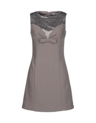 Lucky Lu Short Dresses Grey