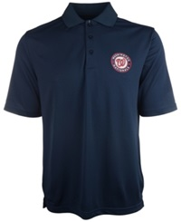 Antigua Men's Short Sleeve Washington Nationals Pique Xtra Lite Polo Navy
