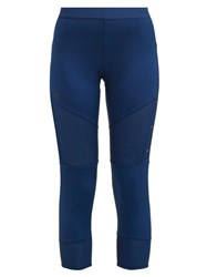 Adidas By Stella Mccartney The Run Mesh Panel Performance Leggings Blue