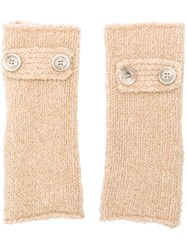 Eleventy Fingerless Gloves Nude And Neutrals