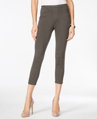 Style And Co Twill Capri Leggings Only At Macy's Brown Clay