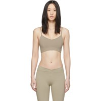 Live The Process Taupe Corset Sports Bra