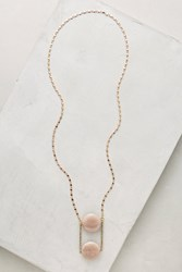 Anthropologie Bimini Pendant Necklace Peach