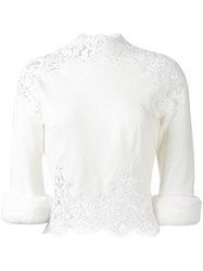 Ermanno Scervino Fur Cuffs Blouse White