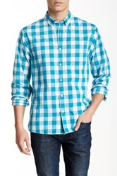 Bonobos Dalton Gingham Long Sleeve Standard Fit Sport Shirt Blue