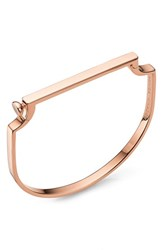 Monica Vinader Women's Signature Thin Petite Bangle Rose Gold
