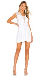 Bcbgeneration Lace Trim Mini Dress In White. Optic White