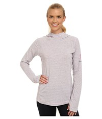 Columbia Tested Tough In Pink Layer First Hoodie Isla Heathered Stripe Women's Sweatshirt Gray