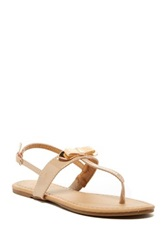 Red Circle Razel Flat Sandal Beige