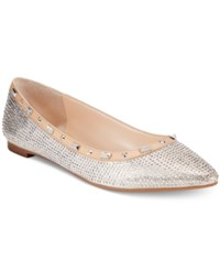 Inc International Concepts Women's Zabbie Pointed Toe Flats Only At Macy's Women's Shoes Pearl Gold