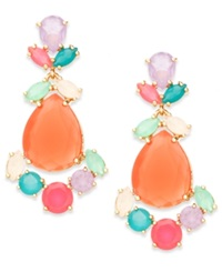 Kate Spade New York Gold Tone Colorful Stone Chandelier Earrings Multicolor