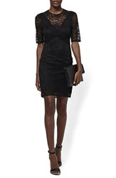Women's Topshop Fringe Trim Lace Sheath Dress