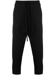 Thom Krom Cropped Jogging Trousers Black